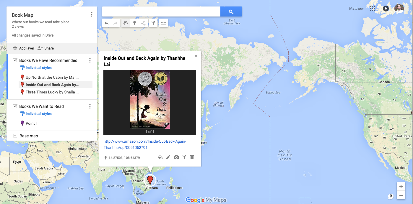 Make a Book Map with Google Maps – Reading By Example